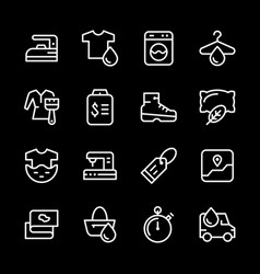 set line icons of laundry vector image