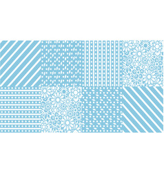 set of abstract background pattern in blue vector image