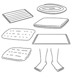 Set of foot wipe vector