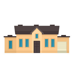 smart house with garage icon flat style vector image
