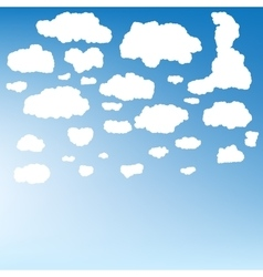 Stylized cloud silhouettes set EPS 10 vector image