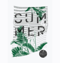 summer party typographic grunge vintage poster vector image