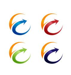 technology orbit web rings logo design vector image