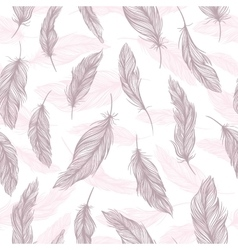 Tender Feather Pattern vector image