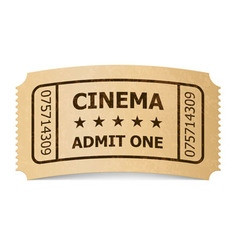 Ticket cinema icon 02 01 vector