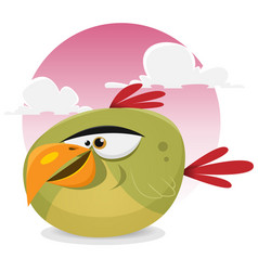 toon exotic bird vector image