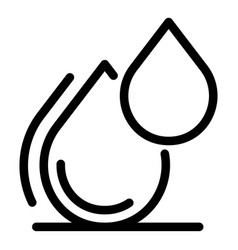 two drops icon outline style vector image