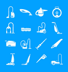 Vacuum cleaner washing icons set simple style vector