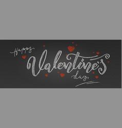 Valentine day holidays lettering handwritten vector