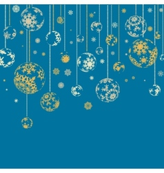 vintage card with christmas balls eps 8 vector image