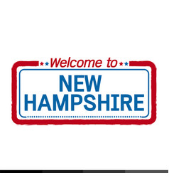 welcome to new hampshire of us state design vector image