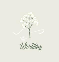 White flowers vector