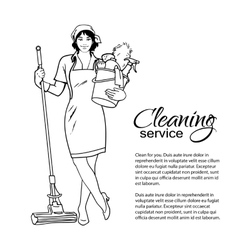 Woman in uniform Cleaning services vector image