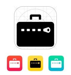 Zipper case icon vector image vector image