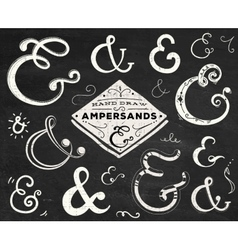 Collection of doodle ampersands vector image