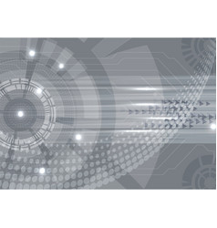 gray digital technology concept abstract vector image vector image