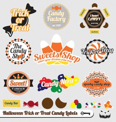 Halloween Trick or Treat Candy Labels vector image vector image