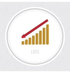 Loss chart1 vector image