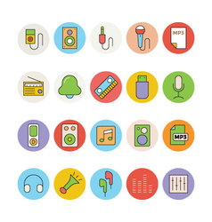Music Colored Icons 3 vector image vector image