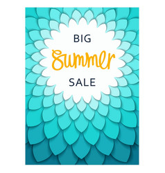 summer sale template design vector image
