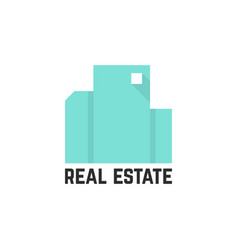 abstract mint real estate logo vector image