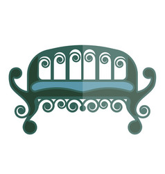 ancient green sofa isolated on white vector image