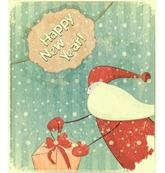 Christmas retro santa vector image vector image
