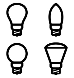 lamp pictograms vector image