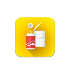 metal recycle waste icon vector image vector image