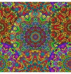 Seamless pattern with colored mandala vector image
