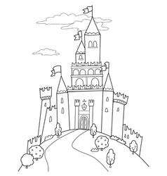 Fairy tale castle vector