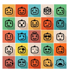 Smiley faces icon set vector image