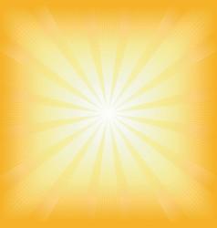 square summer sun light burst vector image vector image
