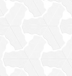 3D white striped triangular stars vector image