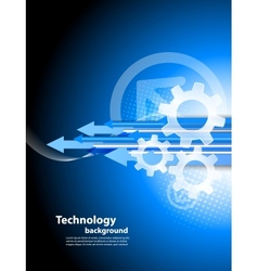 Background with arrows and gears vector image