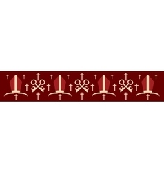 Bishop mitre and crosses vector image