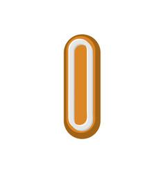 letter i gingerbread peppermint honey-cake font vector image