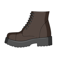 men brown shoes with thick soles shoes for vector image