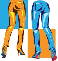Sexy pants vector image