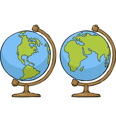 two globe vector image vector image