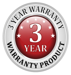 3 years warranty vector image
