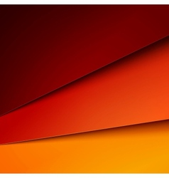 Abstract background with red and orange layers vector