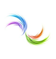 abstract smoke rainbow vector image