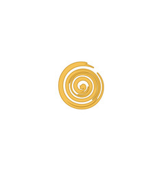 abstract swirl logo designs inspiration isolated vector image
