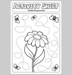 Activity sheet handwriting practise 1 vector