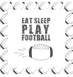 American football motivation quote background with vector image