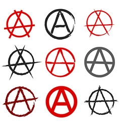 Anarchy symbol vector