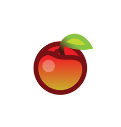 apple with leave vector image