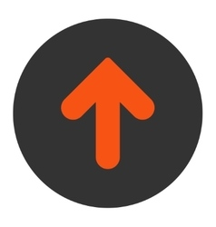 Arrow Up flat orange and gray colors round button vector