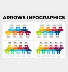 Arrows infographic presentation slide vector